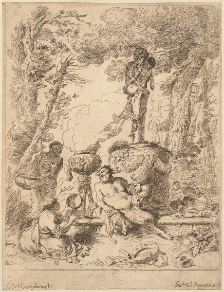 Bacchanal by a Herm