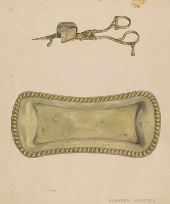 Candle Snuffer and Tray