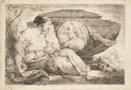 Love Mourns at the Tomb of Preacher Bruhn (Am Grabmal des predigers Bruhn trauert die eheliche Liebe)
