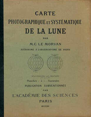 Carte photographique et systématique de la lune (Photographic and Systematic Chart of the Moon)