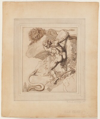 A Man Trapped between a Lion and a Serpent