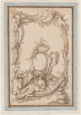 Rocaille Cartouche with an Eagle
