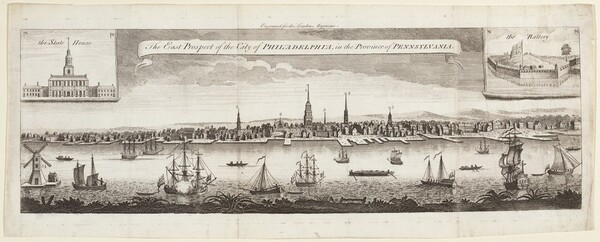 The East Prospect of the City of Philadelphia, in the Province of Pennsylvania