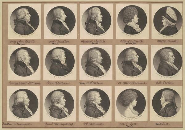 Saint-Mémin Collection of Portraits, Group 10