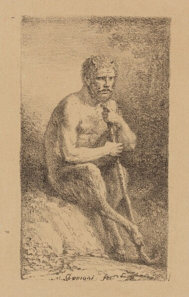 A Satyr Seated in a Landscape