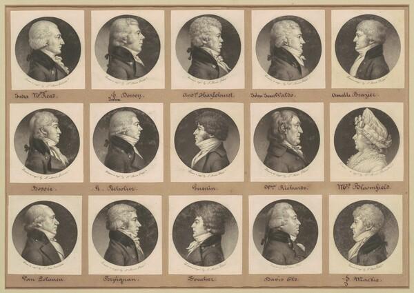 Saint-Mémin Collection of Portraits, Group 17