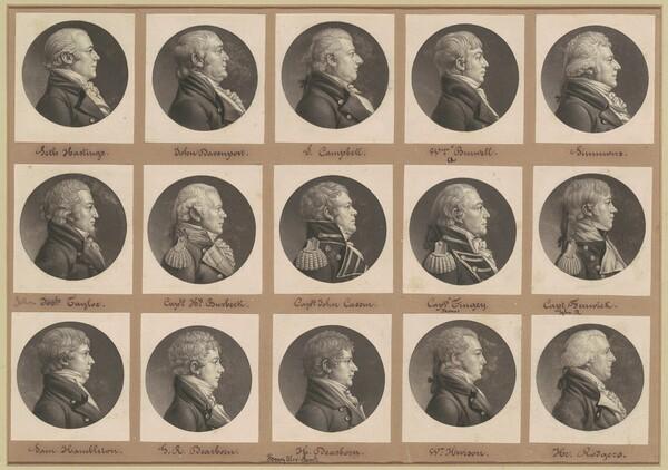 Saint-Mémin Collection of Portraits, Group 34