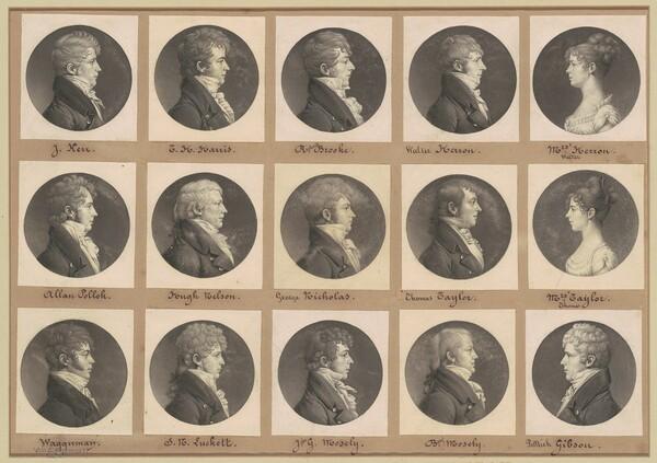 Saint-Mémin Collection of Portraits, Group 42