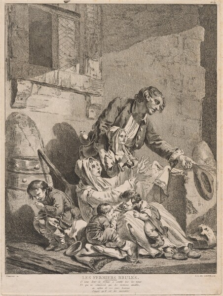 Les Fermiers brulés (A Burnt-Out Farmer, Begging with his Family)