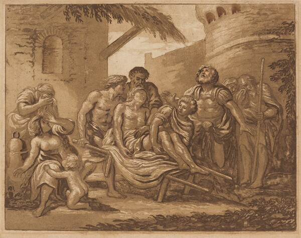 The Death of Hector on the Ramparts of Troy (recto) / Tancred and Erminia (verso)