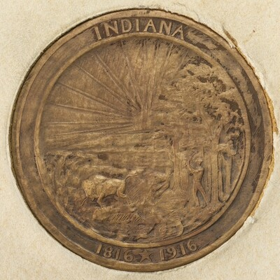 The Indiana Medal 1816-1916 [reverse]