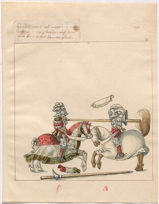 Freydal, The Book of Jousts and Tournament of Emperor Maximilian I: Combats on Horseback (Jousts)(Volume II): Plate 81