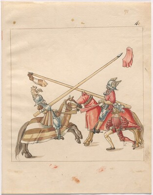 Freydal, The Book of Jousts and Tournament of Emperor Maximilian I: Combats on Horseback (Jousts)(Volume II): Plate 82