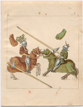 Freydal, The Book of Jousts and Tournament of Emperor Maximilian I: Combats on Horseback (Jousts)(Volume II): Plate 83