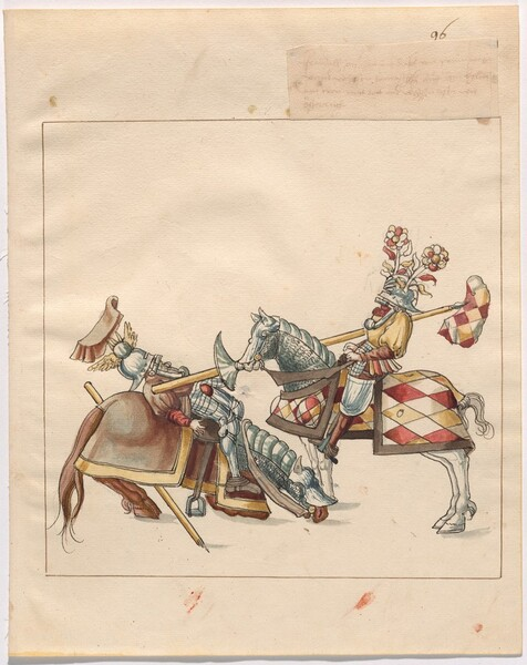 Freydal, The Book of Jousts and Tournament of Emperor Maximilian I: Combats on Horseback (Jousts)(Volume II): Plate 86