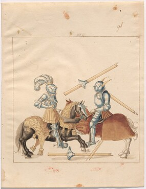 Freydal, The Book of Jousts and Tournament of Emperor Maximilian I: Combats on Horseback (Jousts)(Volume II): Plate 87