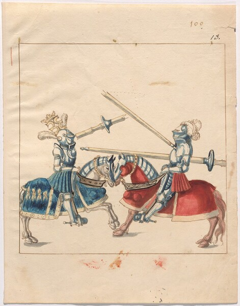 Freydal, The Book of Jousts and Tournament of Emperor Maximilian I: Combats on Horseback (Jousts)(Volume II): Plate 89