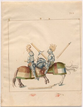 Freydal, The Book of Jousts and Tournament of Emperor Maximilian I: Combats on Horseback (Jousts)(Volume II): Plate 90