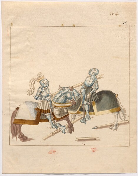 Freydal, The Book of Jousts and Tournament of Emperor Maximilian I: Combats on Horseback (Jousts)(Volume II): Plate 93