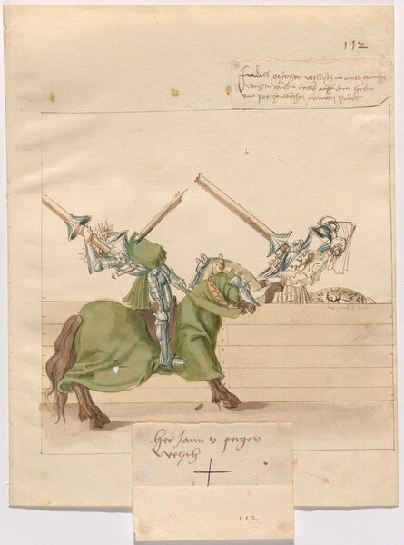 Freydal, The Book of Jousts and Tournament of Emperor Maximilian I: Combats on Horseback (Jousts)(Volume II): Jan von Pergen Plate 100