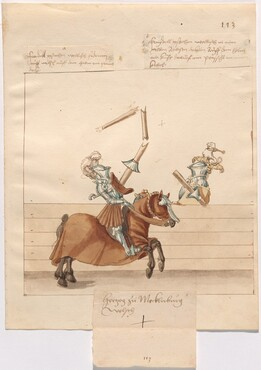 Freydal, The Book of Jousts and Tournament of Emperor Maximilian I: Combats on Horseback (Jousts)(Volume II): Herzog zu Mecklenburg Plate 101