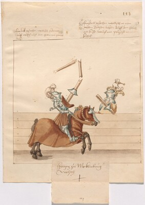 Freydal, The Book of Jousts and Tournament of Emperor Maximilian I: Combats on Horseback (Jousts)(Volume II): Herzog zu Mecklenburg Plate 101