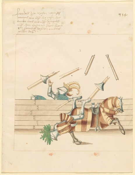 Freydal, The Book of Jousts and Tournament of Emperor Maximilian I: Combats on Horseback (Jousts)(Volume II): Plate 102