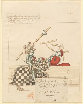Freydal, The Book of Jousts and Tournament of Emperor Maximilian I: Combats on Horseback (Jousts)(Volume II): Fürst von Raymundt, Plate 104