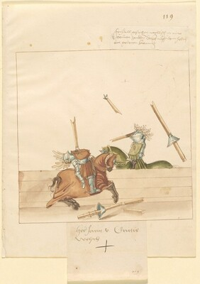 Freydal, The Book of Jousts and Tournament of Emperor Maximilian I: Combats on Horseback (Jousts)(Volume II): Jan von Grittis, Plate 107