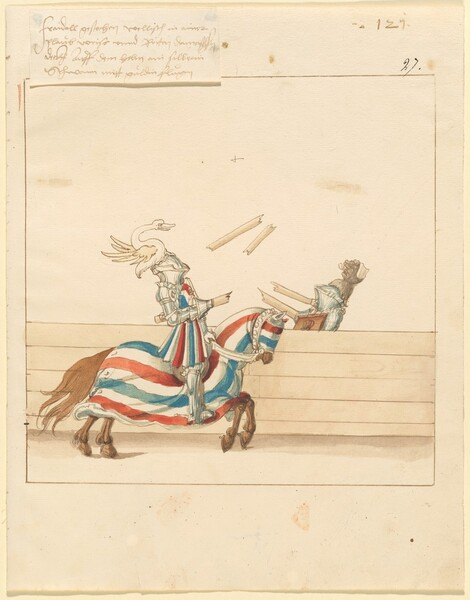 Freydal, The Book of Jousts and Tournament of Emperor Maximilian I: Combats on Horseback (Jousts)(Volume II): Plate 109