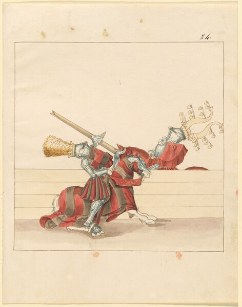 Freydal, The Book of Jousts and Tournament of Emperor Maximilian I: Combats on Horseback (Jousts)(Volume II): Plate 110