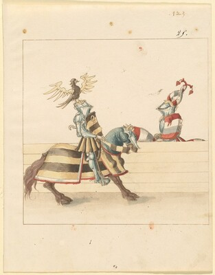Freydal, The Book of Jousts and Tournament of Emperor Maximilian I: Combats on Horseback (Jousts)(Volume II): Plate 111