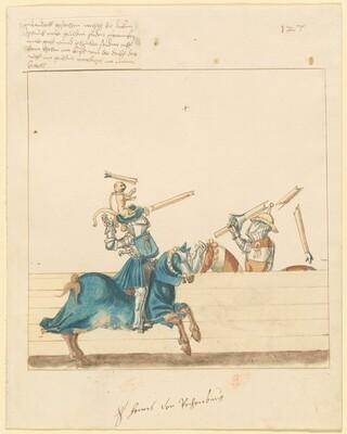 Freydal, The Book of Jousts and Tournament of Emperor Maximilian I: Combats on Horseback (Jousts)(Volume II): Hans von Reihenburg, Plate 115