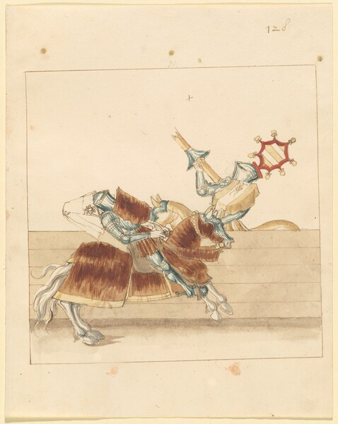 Freydal, The Book of Jousts and Tournament of Emperor Maximilian I: Combats on Horseback (Jousts)(Volume II): Plate 116