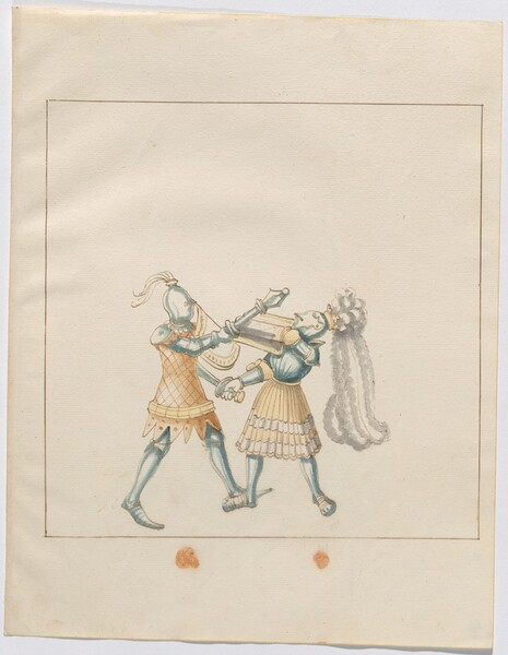 Freydal, The Book of Jousts and Tournament of Emperor Maximilian I: Combats on Foot (Jousts)(Volume III): Plate 122