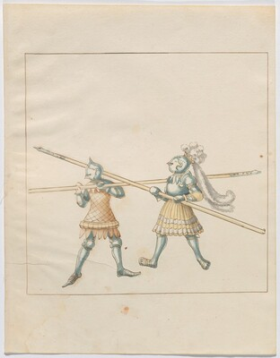Freydal, The Book of Jousts and Tournament of Emperor Maximilian I: Combats on Foot (Jousts)(Volume III): Plate 130