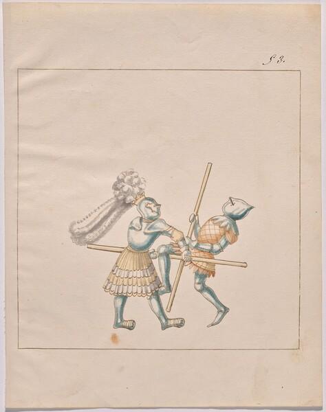 Freydal, The Book of Jousts and Tournament of Emperor Maximilian I: Combats on Foot (Jousts)(Volume III): Plate 135
