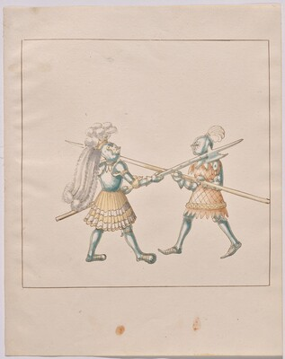 Freydal, The Book of Jousts and Tournament of Emperor Maximilian I: Combats on Foot (Jousts)(Volume III): Plate 138