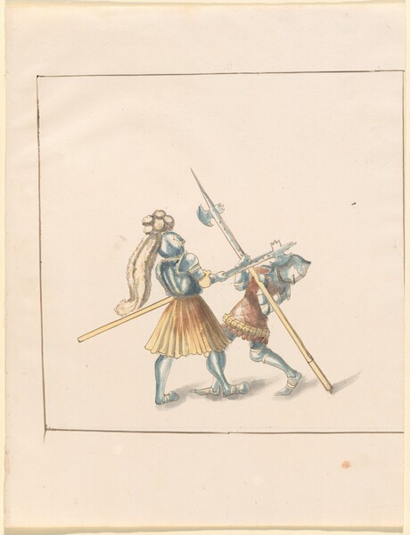 Freydal, The Book of Jousts and Tournament of Emperor Maximilian I: Combats on Foot (Jousts)(Volume III): Plate 142