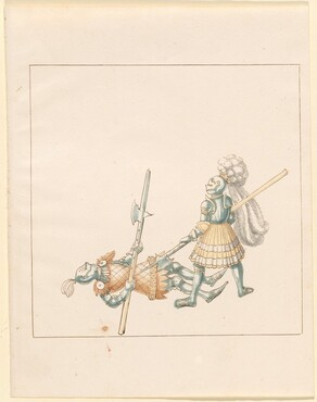 Freydal, The Book of Jousts and Tournament of Emperor Maximilian I: Combats on Foot (Jousts)(Volume III): Plate 145