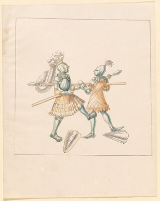 Freydal, The Book of Jousts and Tournament of Emperor Maximilian I: Combats on Foot (Jousts)(Volume III): Plate 151