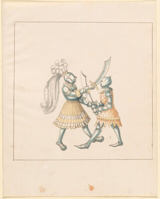 Freydal, The Book of Jousts and Tournament of Emperor Maximilian I: Combats on Foot (Jousts)(Volume III): Plate 153