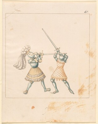 Freydal, The Book of Jousts and Tournament of Emperor Maximilian I: Combats on Foot (Jousts)(Volume III): Plate 157