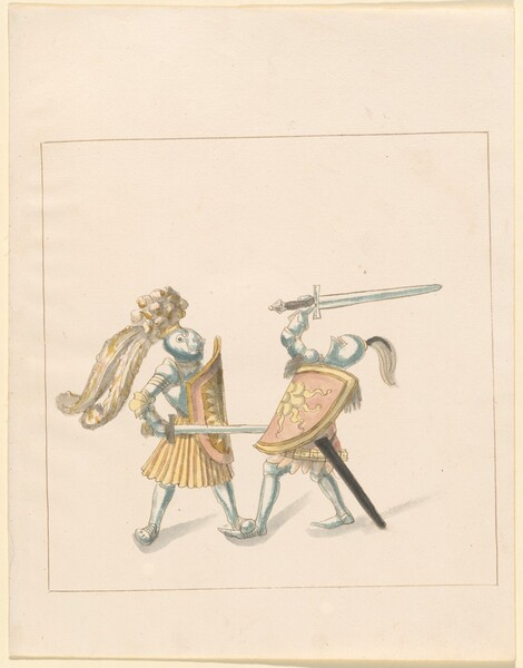 Freydal, The Book of Jousts and Tournament of Emperor Maximilian I: Combats on Foot (Jousts)(Volume III): Plate 161