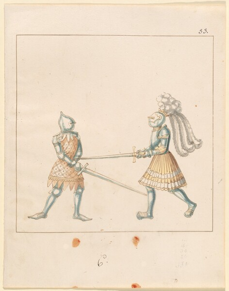 Freydal, The Book of Jousts and Tournament of Emperor Maximilian I: Combats on Foot (Jousts)(Volume III): Plate 163