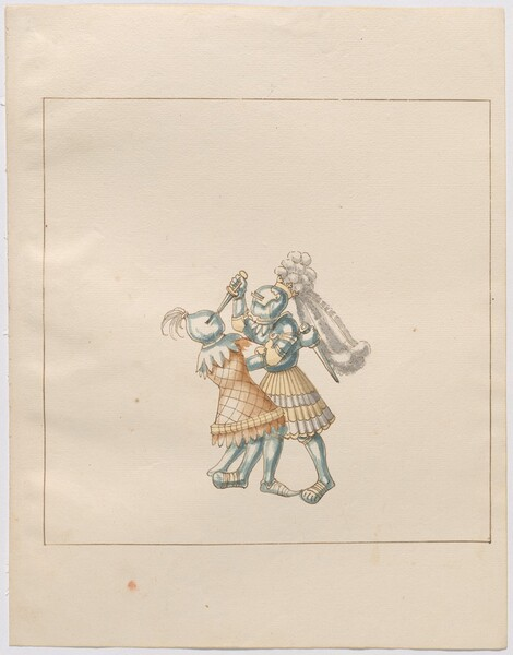 Freydal, The Book of Jousts and Tournament of Emperor Maximilian I: Combats on Foot (Jousts)(Volume III): Plate 175
