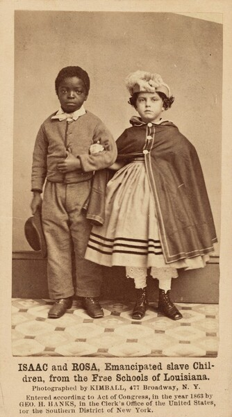 Isaac and Rosa, Emancipated Slave Children, from the Free Schools of Louisiana