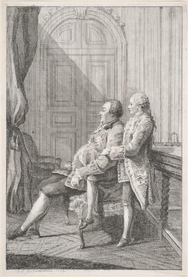 Louis-Philippe, Duc d'Orléans, and His Son, Louis-Phillipe Joseph, Duc de Chartres