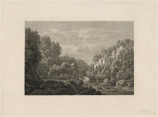 The Lochmühle in the Liebethal, in Saxon Switzerland