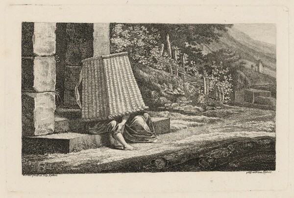 A Young Couple under a Large Wicker Basket